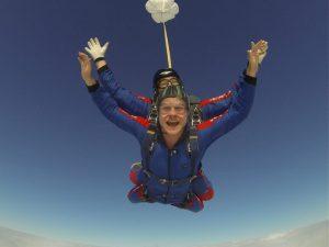 Tandem skydiver at Skydive Tilstock