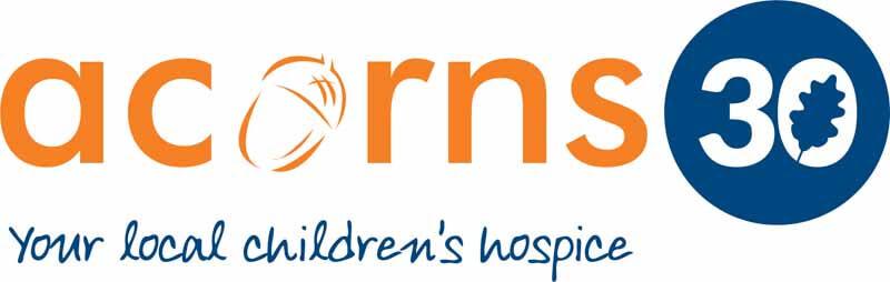 logo skydive for acorns childrens hospice