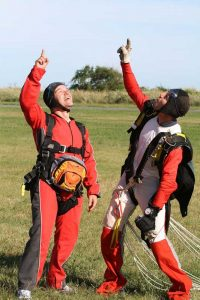 get back up. what's it like to skydive