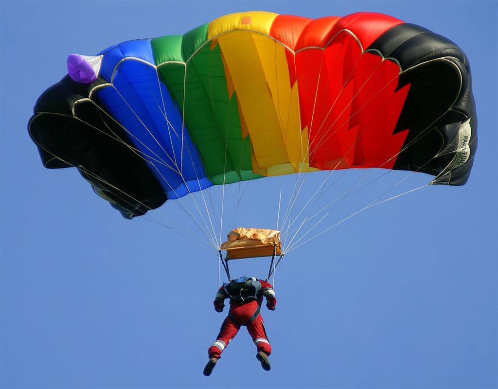 rainbow-parachute