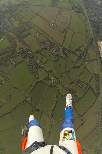 view of the ground on an aff jump